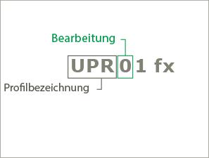 Beispiel 1 für die Systematik der Produktnamen der Profile