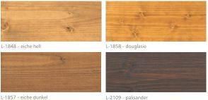 Farby Mocopinus paleta kolorów Holz Lasur cz 1 z 2